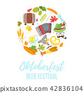 Octoberfest greeting card 42836104