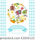 Octoberfest greeting card 42836122