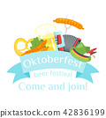 Octoberfest greeting card 42836199