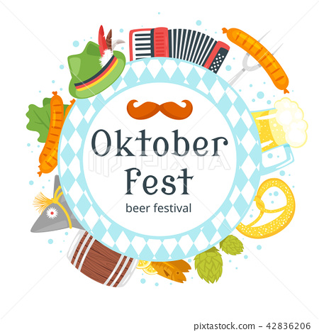 Octoberfest greeting card 42836206