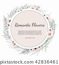 Vector floral design card.  42836461
