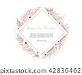 Greeting, postcard wedding invite template.  42836462