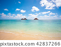 【Hawaii】 Lanikai heavenly sea 42837266