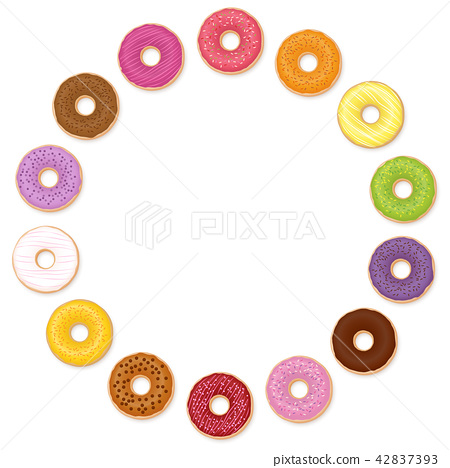 Donuts Circle Collection Different Tastes 42837393