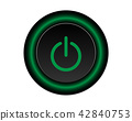 Green power icon Vector Illustration isolated  42840753