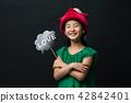 소녀, 한국인, 모자 42842401