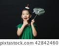 어린이, 소녀, 한국인, 검은배경, 컨셉 42842460