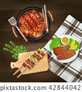 bbq, grill, barbecue 42844042
