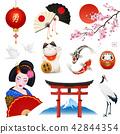 Japan Realistic Symbols Set 42844354