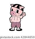 Pig in cartoon style 42844650