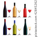 Wine And Glass Realistic Set 42845262