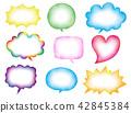 多彩的演講泡沫水彩風格矢量 42845384