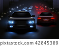 Car Led Lights Composition 42845389