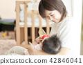 아기 우유 가족 부모와 자식 수유 42846041