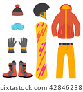Snowboarding equipment set 42846288