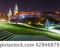 Wawel Castle in the evening in Krakow  42846879