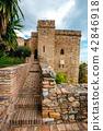 courtyard of alcazaba castle in Malaga, Spain 42846918
