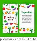 Healthy food vegetables flyer 42847161
