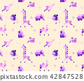 african animals seamless pattern 42847528