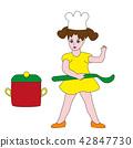 Little girl cook. 42847730
