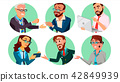 Business People In A Hole Vector. Behavior Concept. Isolated Flat Cartoon illustration 42849939