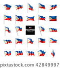 Philippines flag, vector illustration on a white background 42849997
