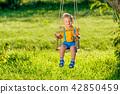 swing, child, boy 42850459