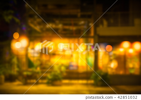 Blur night cafe warm place romantic abstract 42851032