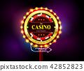 casino sign neon light outdoor 42852823