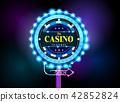 casino sign neon light outdoor 42852824