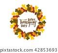 thanksgiving, autumn, greeting 42853693