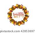 thanksgiving, autumn, greeting 42853697