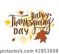 thanksgiving, autumn, greeting 42853698
