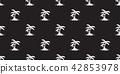 Coconut tree palm Seamless Pattern vector island 42853978