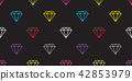 diamond gem seamless pattern vector isolated 42853979
