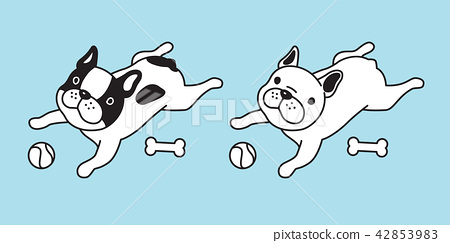 dog vector french bulldog icon cartoon character 42853983