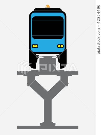 Flat Design Front View of Mono rail Vector 42854496