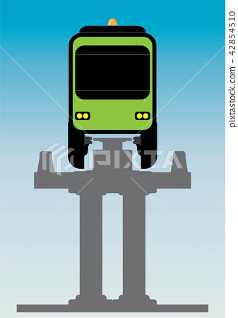 Flat Design Front View of Mono rail Vector 42854510