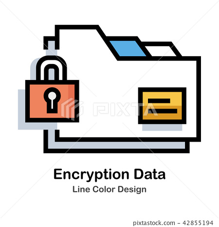 Encryption Data Line Color Icon 42855194