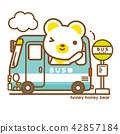熊 公共汽車 巴士 42857184