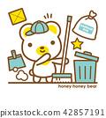 熊 清潔人員 打掃 42857191