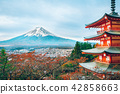 Mount Fuji, Chureito Pagoda in Autumn 42858663