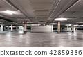 Empty modern car parking garage interior  42859386