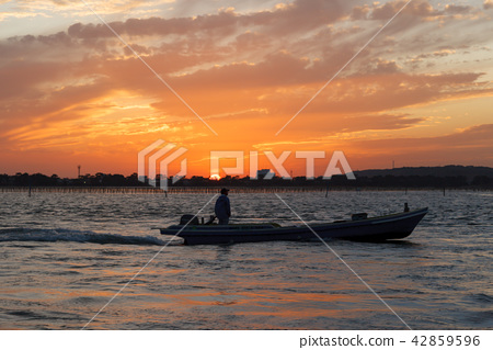 Evening view of Lake Hamana 42859596
