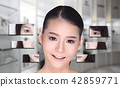 Asian Woman make up hair style, plastic surgery, 42859771