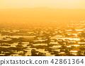 《富山県》富山の絶景・砺波平野、散居村の夕景 42861364