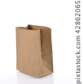Brown Paper Bag on white background. 42862065