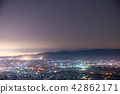 """""""จังหวัดโทยามะ"""" ทิวทัศน์ยามค่ำคืนของที่ราบโทนามิ·ท้องฟ้าเต็มไปด้วยดวงดาว 42862171"""