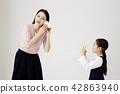 媽媽,女兒,家庭 42863940