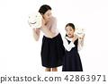 媽媽,女兒,家庭 42863971